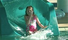 Girl Coming Down Water Slide